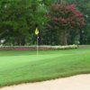 A view of a hole at Pine Lake Country Club