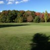 A view of the 1st green at Briar Creek Golf Course