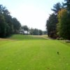 A view from a tee at Pequabuck Golf Club
