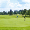 A view of a green at Seven Springs Mountain Resort