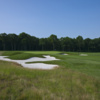 A view of a hole protected by tricky bunkers at Black from Bethpage State Park Golf Course (Rees Jones Design)