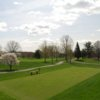 A spring view from West at Upper Montclair Country Club