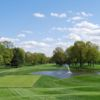 A view of a tee at Upper Montclair Country Club