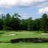 A view of the 8th green at Crestmont Country Club
