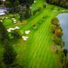 Aerial view of fairway #17 and #18 at Ramsey Golf & Country Club