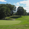 A view of a hole with a bunker on the right side at Apawamis Club