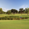 A view from a green at Lake Park Golf Course