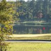 A view of a hole with water coming into play at Gordon Lakes Golf Course