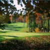 A fall view of a hole at Stone Hedge Country Club
