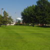 A view of the 9th green at Pitch 'N Putt from Tara Greens Golf Center