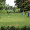 A view of the practice area at Sunnycrest Golf Course