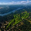 Aerial view of Oswego Lake Country Club