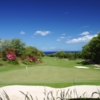 A view of the 5th tee and green at Makena Golf Course