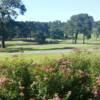 A view of a green with water coming into play at Spring Valley Country Club
