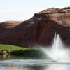 A view over the water from Lake Powell National Golf Course