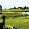 A view from the 18th tee sign at Glen Eagle Golf Club