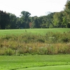 Sylvan Glen: View from the tee of the long par-4 3rd hole