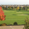 A view of the practice area at Boulder Ridge Country Club