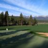 A view of a green at Breckenridge Golf Club
