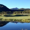 A view over the water from Breckenridge Golf Club