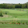 A view of the course from the clubhouse terrace at Bowes Creek Country Club