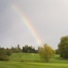 A view of a hole protected by a rainbow at Billingbear Park Golf Club