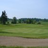 A view of a hole protected by bunkers at Glen Lawrence Golf Club