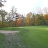A fall view of the 14th green at Andover Country Club
