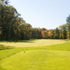A fall view from a tee at Swanson Meadows Golf Course