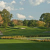 A view of a fairway at Nashawtuc Country Club