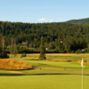 A view from a green at Canoe Creek Golf Course