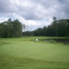 A cloudy view of a green at Harmon Golf & Fitness Club