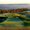 A view of the 12th and 13th holes at Pete Dye Course from French Lick Resort