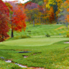 A fall view of a green at Framingham Country Club