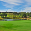 A view of a green at Spanish Oaks Golf Course