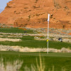 A view of a green at the Links Course from Sand Hollow Golf Resort