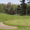A view of a hole protected by a bunker at Linden Golf & Country Club