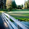 A view over a bridge at Canterwood Golf Club