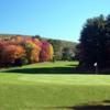A view of the 18th hole and fairway at Cedar Knob Golf Course