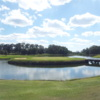 A view of the island green at Gemstone Plantation Country Club