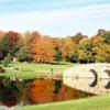 A view over a bridge at Twin Hills Country Club