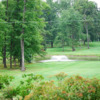 A view of a tee at Twin Hills Country Club