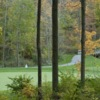 A fall view of a green at Safari Golf Club