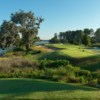 A view of a tee at East from Belfair Golf Club
