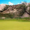 A view of a hole at Sand Creek Golf Course