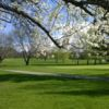 A spring view of a green at Candlewood Valley Country Club