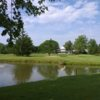 A view over a pond at Candlewood Valley Country Club
