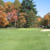 A fall view of a green at Intervale Country Club