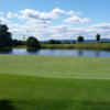 A view of a green with water coming into play at Pheasant Ridge Golf Club