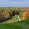 A fall view of a fairway at Nippo Lake Golf Club